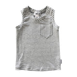 Stripes on Stripes Tank - Light Grey - theMINIclassy
