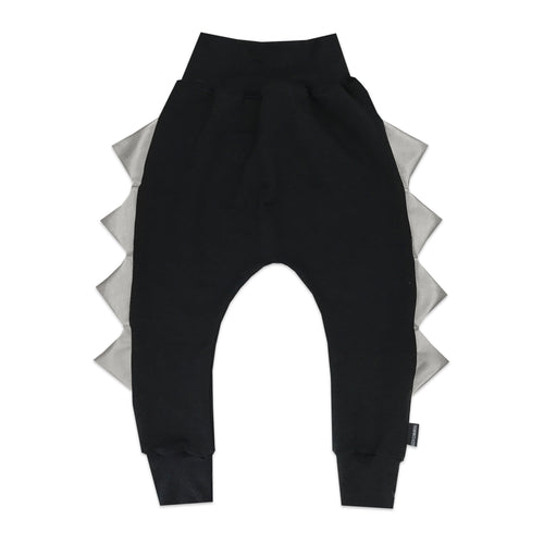 The Megalodon - Original Dino in Black with Silver Faux Leather Spikes - theMINIclassy