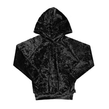 Black Velvet If You Please Crushed Velvet Hoodie - theMINIclassy