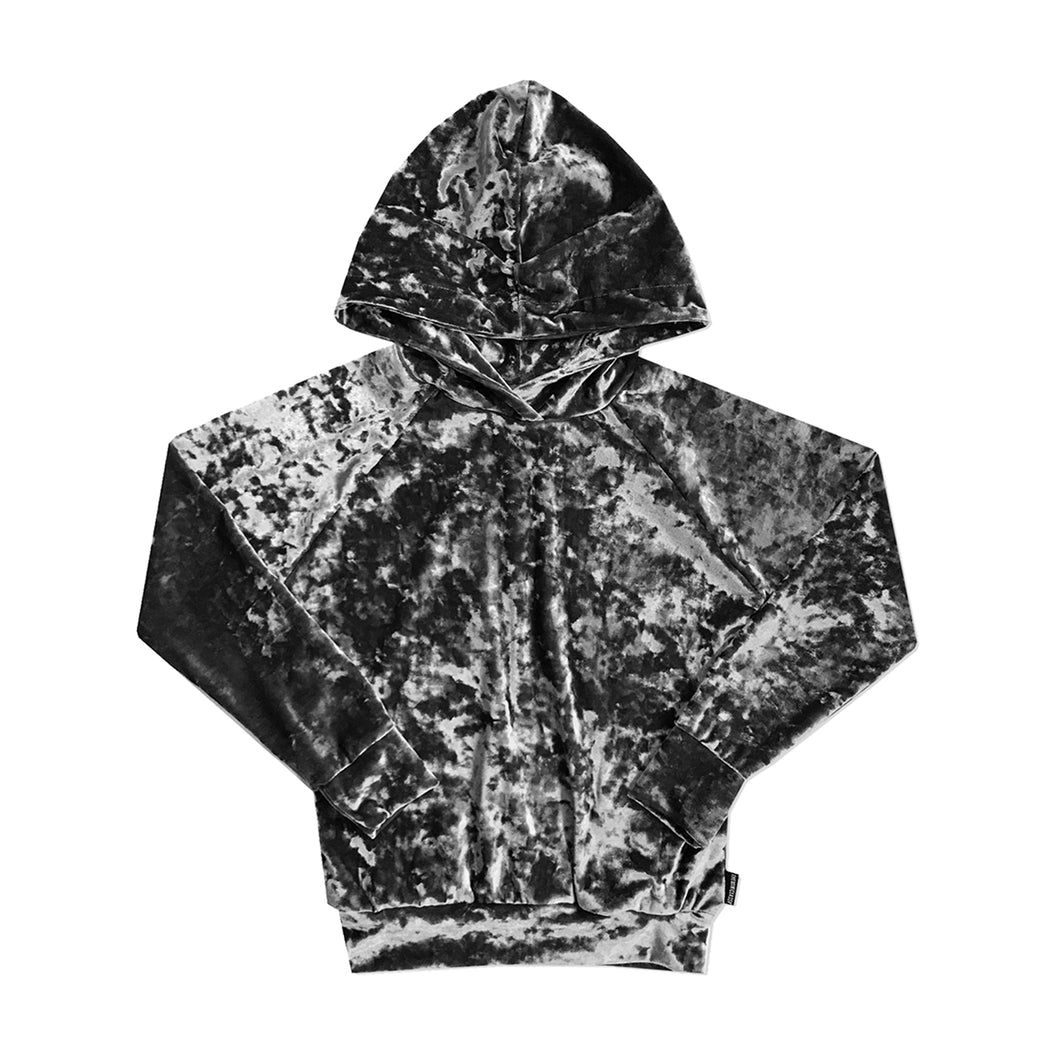 When Doves Cry Crushed Velvet Dino Hoodie - theMINIclassy