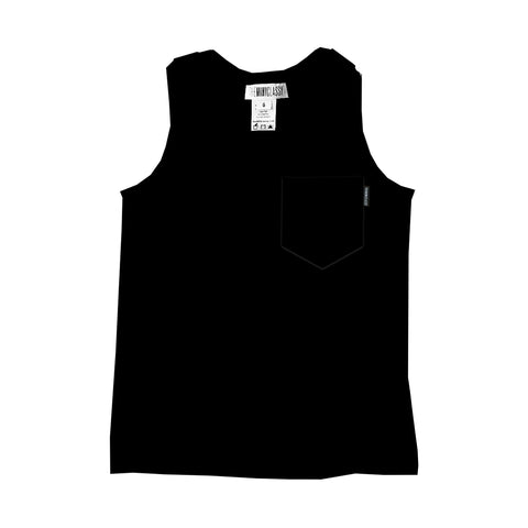 Racer Back Tank in Black Licorice - theMINIclassy