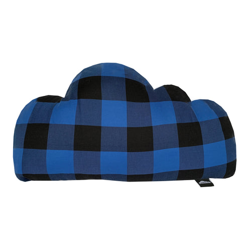Mad 4 Plaid Cloud Pillow  - Blue/Black - theMINIclassy