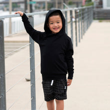 Not-So-Basic Black Sesame Hoodie with Pockets - theMINIclassy