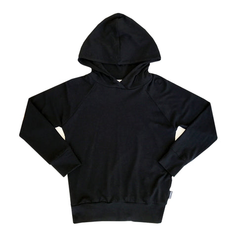 Not-So-Basic Black Licorice Hoodie with Pockets - theMINIclassy