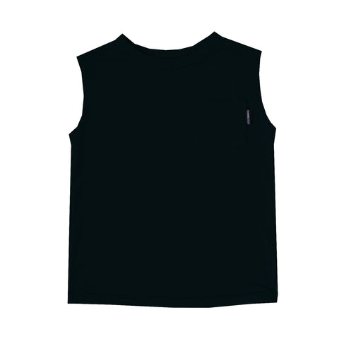 Muscle Tank in Black Licorice - theMINIclassy