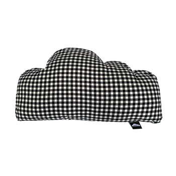 Mad 4 Plaid Cloud Pillow- Black/White - theMINIclassy