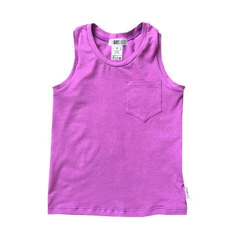 Racer Back Tank in Gooey Grape - theMINIclassy