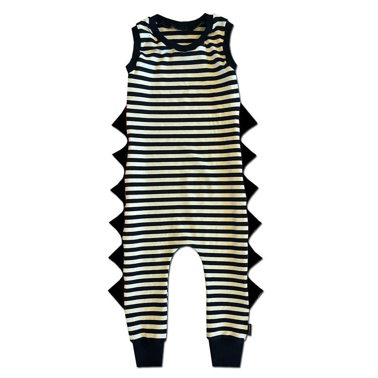 Jailbird Romper with Black Spikes - theMINIclassy