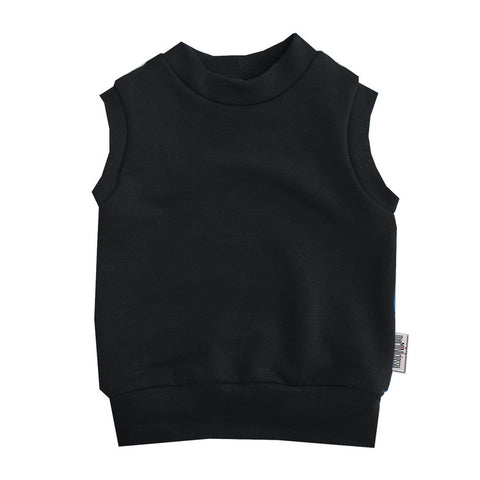 All Black Everything Layette Vest - theMINIclassy