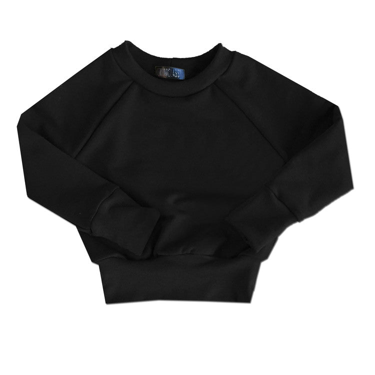 All Black Everything Layette Crewneck - theMINIclassy
