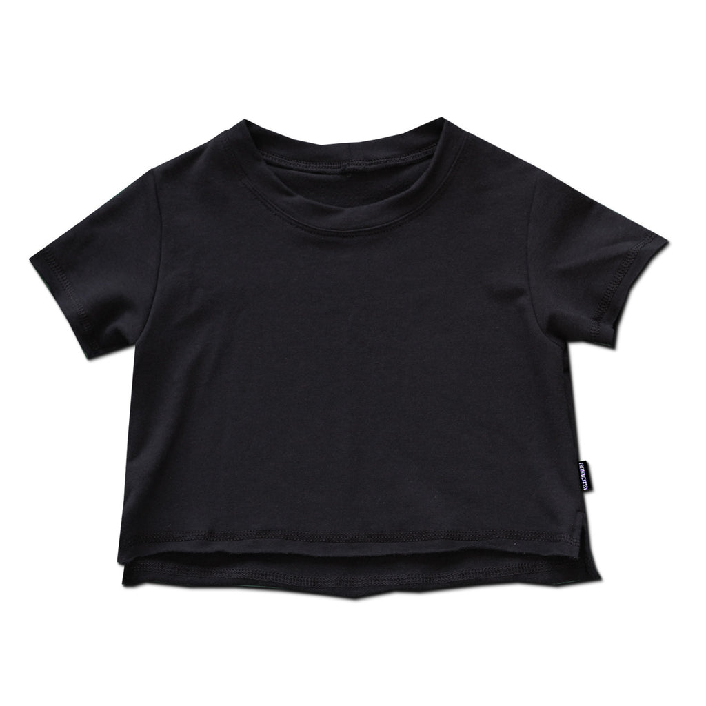 Cropped Top - Basic Black - theMINIclassy