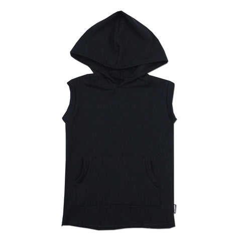 No Sleeves Bro! Hoodie Muscle Tank - Basic Black - theMINIclassy