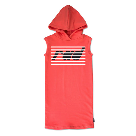 Oh Snap! Muscle Dress with Hood in Cool Coral - theMINIclassy