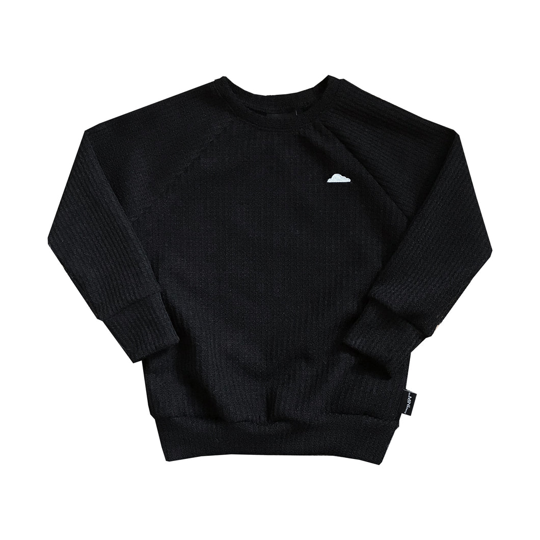 Pour Some Syrup On Me Waffle Knit Crew - theMINIclassy