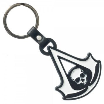 Assassins Creed 4 IV Black Flag Logo Metal Keychain Keyring Bag Zipper Pull