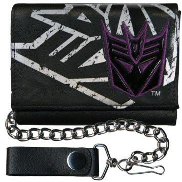 Transformers- Decepticon Leather Wallet w/ Chain
