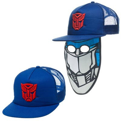 Transformers Autobots Trucker Hat w/ Face Mask