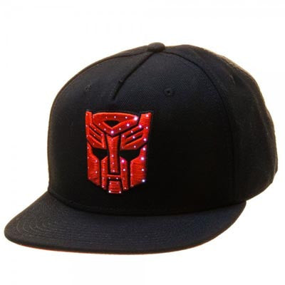 Transformers Autobot Logo Black Snapback w/ Fiber Optic Lights