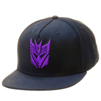 Tranformers Decepticon Logo Black Snapback w/ Fiber Optic Lights