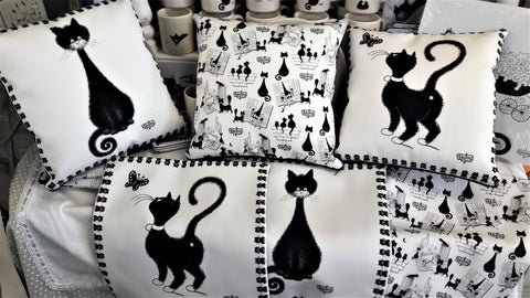 FRENCH DUBOUT CAT CUSHION COVERS