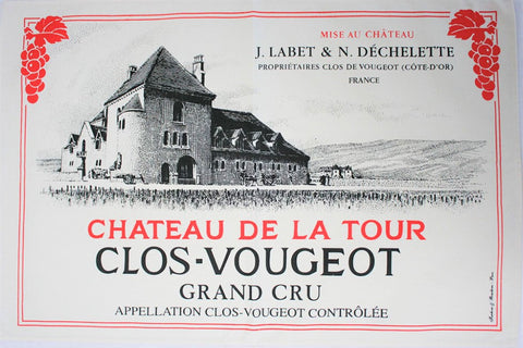 Chateau du la Tour Clos Vougeot Tea Towel