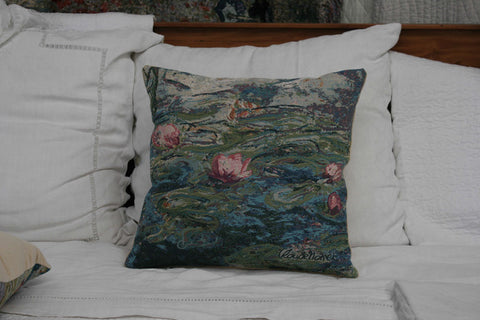 NYMPHEAS- WATERLILIES 1 MONET CUSHION COVER - FLEMISH TAPESTRIES