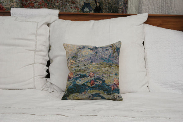 NYMPHEAS- WATERLILIES 2  MONET CUSHION COVER - FLEMISH TAPESTRIES