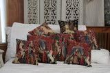 A MON SEUL DESIR  FLEMISH TAPESTRY CUSHION COVER