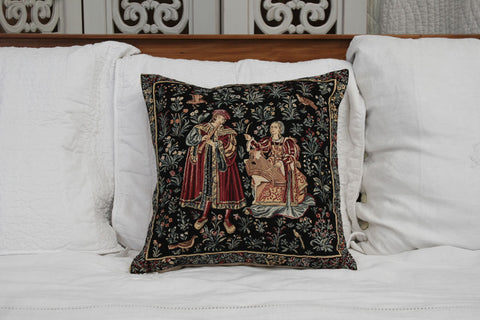 MEDIEVAL CONCERT CUSHION COVER - FLEMISH TAPESTRIES