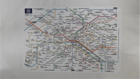 FRENCH METRO MAP PLACEMAT