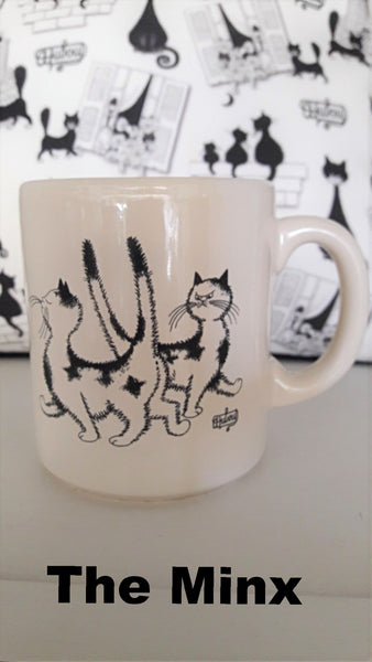 French Dubout Cat Mugs