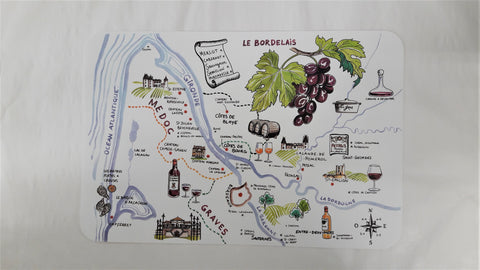 BORDEAUX WINE TRAIL PLACEMAT