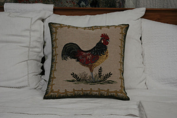 MISTER COCK CUSHION COVER - FLEMISH TAPESTRIES