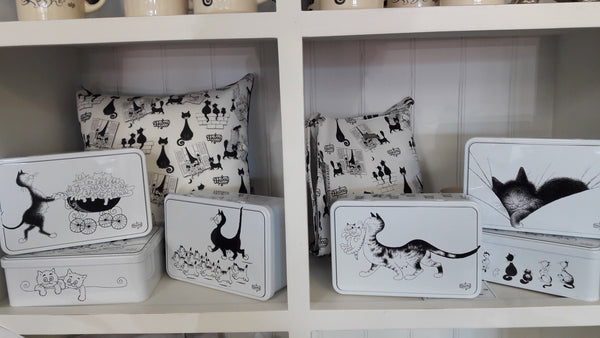 French Dubout Cat Tins