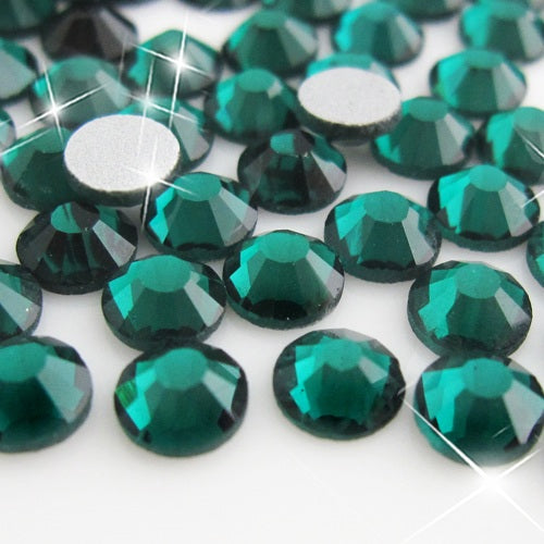 Emerald Glass Rhinestone No-Hotfix AAA Grade