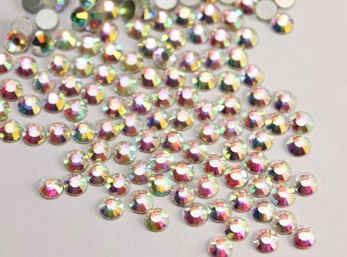 Assorted Sizes AB Crystal Glass Rhinestone No-Hotfix AAA Grade