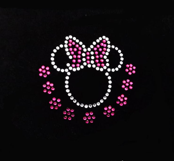Hotfix Iron On Crystal Motif Pre-Made Minnie Mouse Design