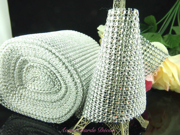 Mesh Wrap Roll with Crystal Sparkling Effect