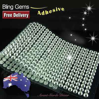 504pcs 6mm Clear Rhinestone Self Adhesive Diamantes Stick on Gems