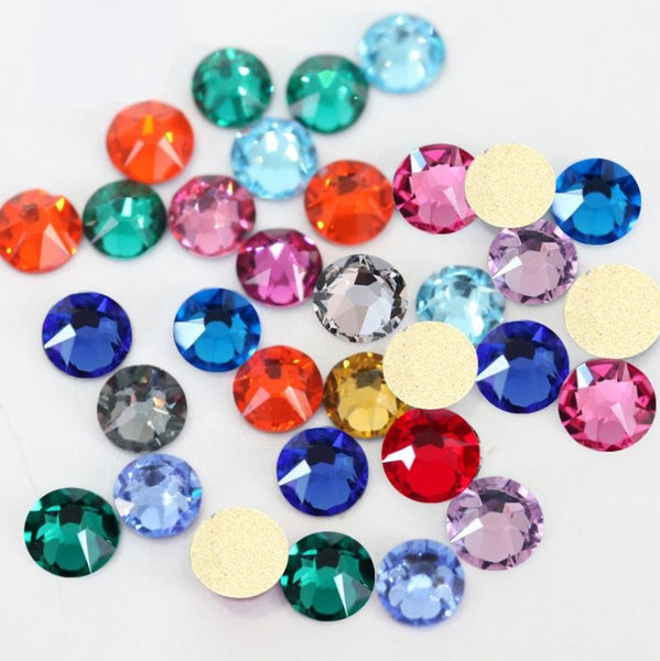 16 Facets (AB Effect) 4A Grade Premium No-Hotfix Glass Rhinestone