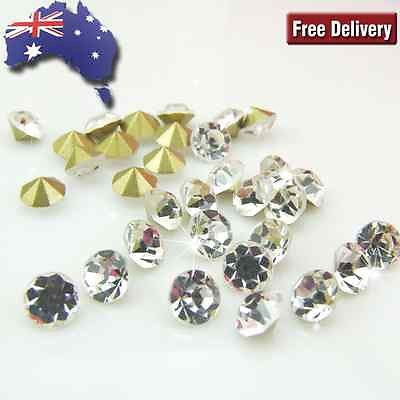 SS8.5-SS38 Grade-A Point Back Clear Diamante Rhinestone
