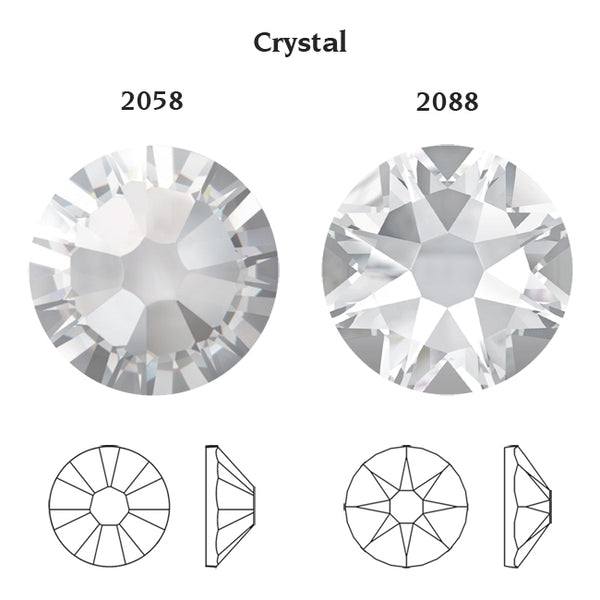 CRYSTAL001 NO-HOTFIX SWAROVSKI ELEMENTS XILION 2058/2088 FLAT BACK