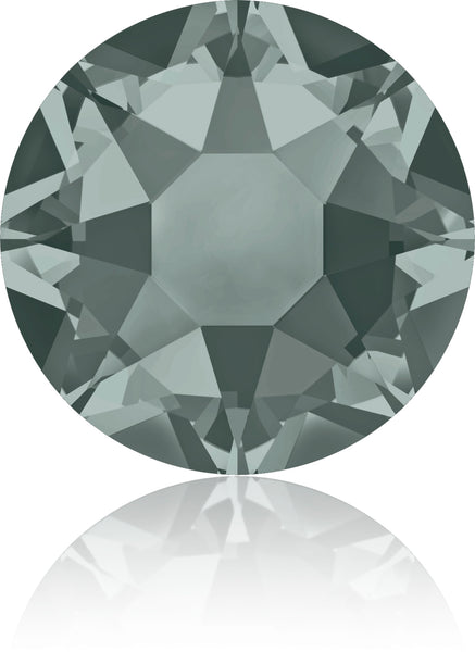 BLACK DIAMOND HOTFIX SWAROVSKI® CRYSTAL XIRIUS ROSE 2078 FLAT BACK