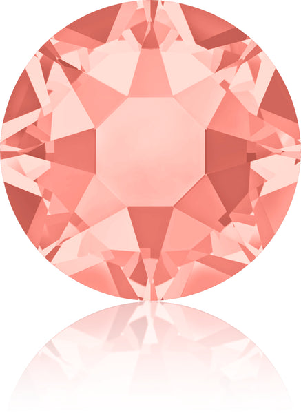 ROSE PEACH HOTFIX SWAROVSKI® CRYSTAL XIRIUS ROSE 2078 FLAT BACK