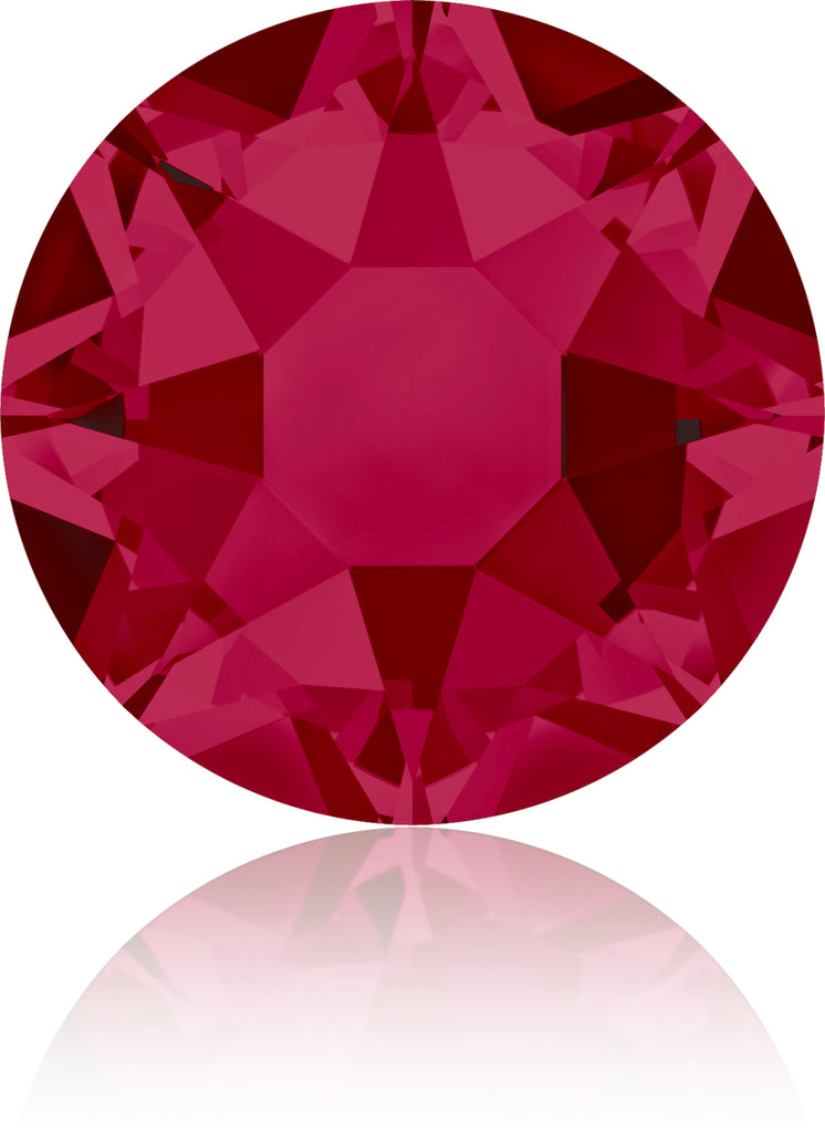 RUBY HOTFIX SWAROVSKI® CRYSTAL XIRIUS ROSE 2078 FLAT BACK