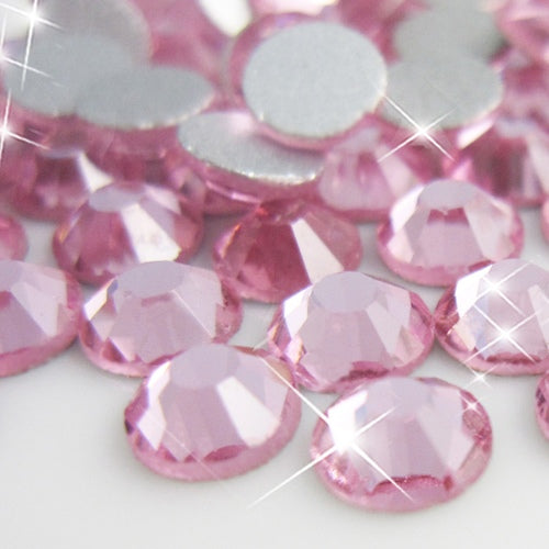 Light Rose Glass Rhinestone No-Hotfix AAA Grade