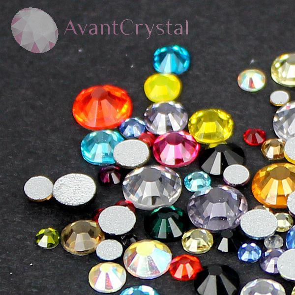 Assorted Sizes Mixed Colour Glass Rhinestone No-Hotfix AAA Grade