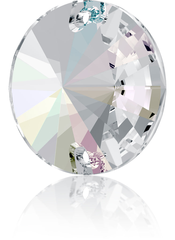 CRYSTAL AB RIVOLI SEW-ON SWAROVSKI® CRYSTAL 3200 FLAT BACK