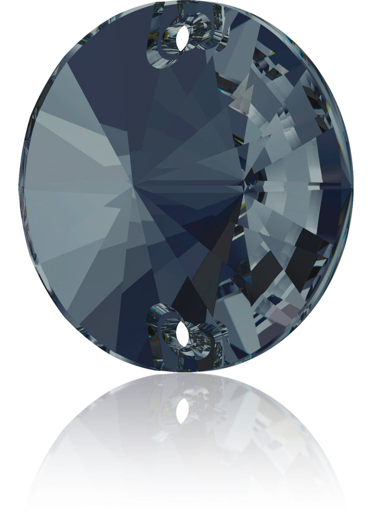 GRAPHITE RIVOLI SEW-ON SWAROVSKI® CRYSTAL 3200 FLAT BACK