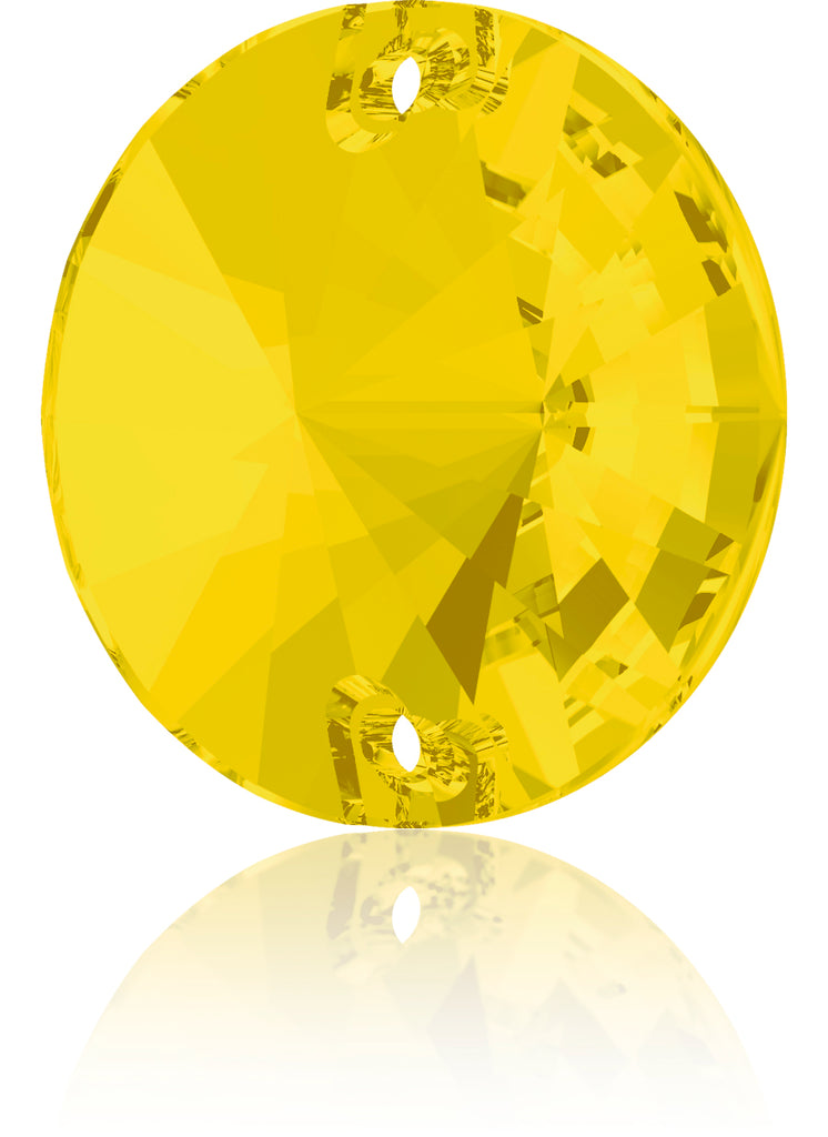YELLOW OPAL RIVOLI SEW-ON SWAROVSKI® CRYSTAL 3200 FLAT BACK